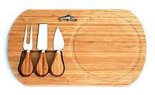Saumon design fromage planche avec fromage couteaux pêche cadeau