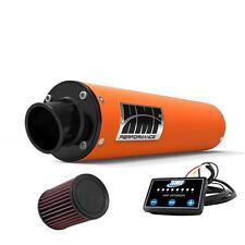 HMF Performance Slip On Exhaust Orange Black End Cap EFI Optimizer K&N LTZ 400
