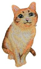Cat Applique Patch (Iron on) - Orange Tabby