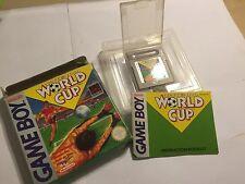 ORIGINALE GAME BOY FOOTBALL SOCCER NINTENDO WORLD CUP + Scatola Istruzioni Completo