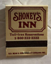 Shoney's  Inn Best Breakfast in Town South Carolina Vintage Matchbook Complete