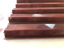 Five Burgundy Vintage Mah Jongg Racks Swirled Bakelite Mahjong