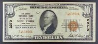 Series 1929 $10 US National Bank Note - Chase Nat. Bank of New York, Fr. 1801-1.
