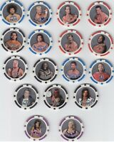 Rare! COMPLETE SET OF 17 WWE 2009 TOPPS CHIPZ FOIL CHIPS *Very Hard To Find!*