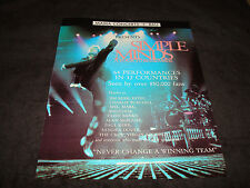 Simple Minds 1989 ad on stage, Jim Kerr, Charlie Burchill 'Seen by 850,000 fans'