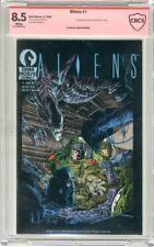 Aliens  #1   CBCS   8.5   VF+   White pages Signed by Mark Verheiden  5/88