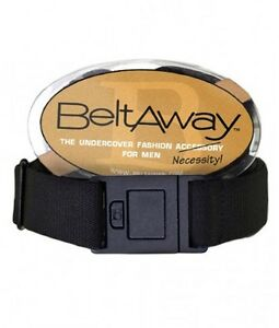 Beltaway Men's Belt - Stretch Square Flat Buckle Belt One Size