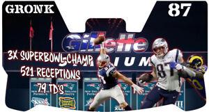 Custom New England Patriots Rob Gronkowski Football Helmet Visor, W/ Clips