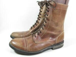 Bed Stu Lace Up Granny Boot Women size 8 Brown Leather