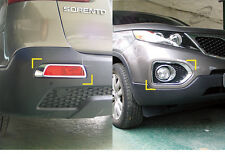 New Chrome Fog Lamp Cover Molding Advanced 6pcs K029 for Kia Sorento 2010-2012