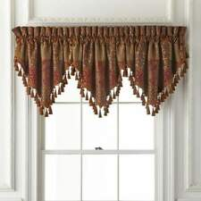 Croscill Galleria Ascot (1) Valance With Red Finish - New