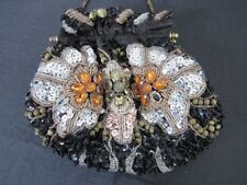 Beautiful Vintage Moni Couture Sequin Beaded Jewels & Pearls Evening Bag Purse