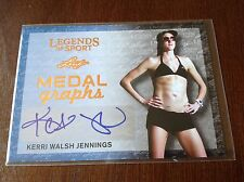 Kerri Walsh Jennings 2015 AUTOGRAPH Leaf Legends Of Sport Medal Graphs 3 Avail.
