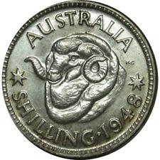1948 Australia King George VI Shilling Silver Coin