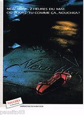 PUBLICITE ADVERTISING 055  1988  NOUCHKA fete son 10° ANNIVERSAIRE  chaussures