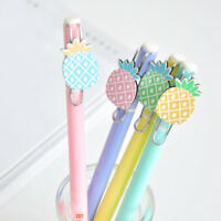 2pcs 0.5mm Cute Pineapple Gel Pens Kawaii Students Stationery Black Ink Pens