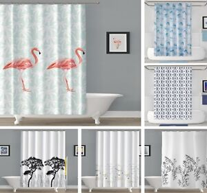 Extra Long Fabric Shower Curtains, Also Available in Extra Wide, Many Designs