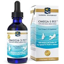 Omega-3 Pet Oil Supplement Promotes Optimal Pet Dog Cat Health and Wellness 2 oz