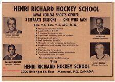 1970 Henri Richard Hockey School, Laval College Montreal QC NHL Stars Vintage Ad
