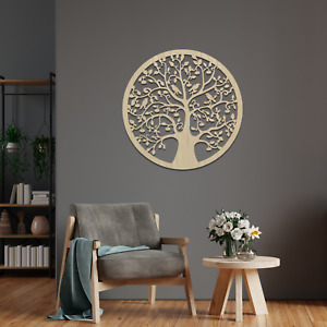023 Mystery Tree of Life Round Hanging Wooden Modern Contemporary Wall Art