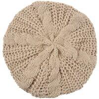 Unisexe Homme Femme Hiver Plisse Bouffant Bonnet Tricot Crochet Ski Chapeau J1L2