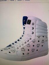 New $550 MCM Classic Visetos Men's, Big Boy's Hi Top Fashion Sneakers S35EU/5US