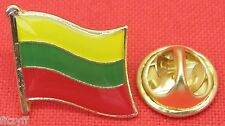 Lithuania Lithuanian Country Flag Lapel Tie Pin Badge Brooch Lietuvos Respublika