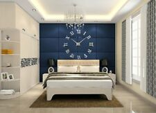 Extra Large Wall Clock Sticker Unique 3D Décor Decal Huge Diameter 1M Silver DIY