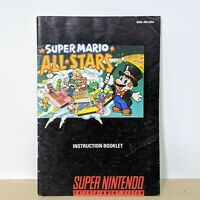 Super Mario All Stars Super Nintendo Instruction Booklet Manual