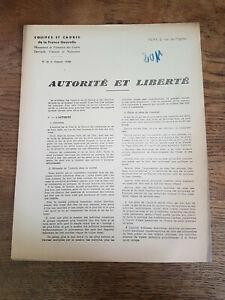 Régime Vichy Pétain, AUTORITÉ ET LIBERTÉ Tract ÉQUIPES et CADRES 1942