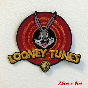 Looney Tunes Cartoons Logo Iron on Sew on Embroidered Patch#1725