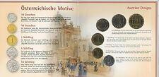GN385 - Österreich KMS 2001 Hdgh Kursmünzsatz Handgehoben Coin Mint Set