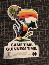 Guinness Beer Toucan Bird Notre Dame Fighting Irish Football Embossed Tin Sign