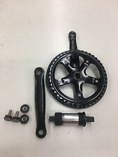 MOTORIZED BICYCLE GAS FRAME  3 PIECE CRANK SET COMPLETE 44TEETH