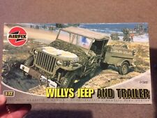 Airfix 1:72 Willy's Jeep And Trailer Set 01322 Bags Sealed