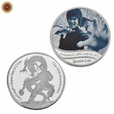 WR Kung Fu Bruce Lee Silver Coin Fist Of Fury / Chinese Connection Memorabilia