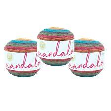 Lion Brand Yarn 525-240 Mandala Yarn, Groot (Pack of 3 cakes)