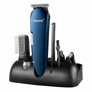 8 in 1 Rechargeable Cordless Hair Clipper Mens Beard Nose Trimmer Shaver ZE