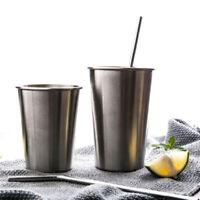 350ml 500ml Tumbler Pint Outdoor Metal Stainless Steel Beer Cup Drinking Mugs