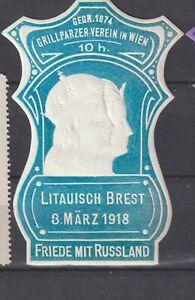 Poster Stamp Austria Russia 1918