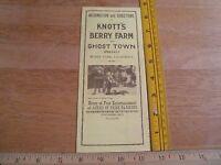 Knotts Berry Farm 1960's Ghost town foldout brochure VINTAGE map