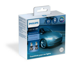 Philips H4 Ultinon Essential LED Car Headlight Bulbs HB2 9003 11342UE2X2 6500K