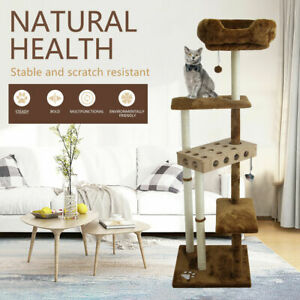 Cat Tree Scratching Post Scratcher Tower Condo House Activity Center Bed 162cm