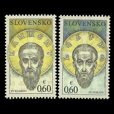 Slovakia 2010 - The Seven Saints - Sc 599a/b MNH