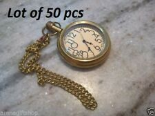 Antique brass old time pocket watch chain with hook vintage Lot of 50 gift item
