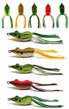 5PC Bass Pike Snakehead Fsihing Soft Bait Lure Frog Topwater Floating NEW