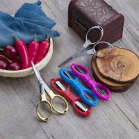 Folding Stainless Steel Scissors Camping Fishing Scissor Mini Cutter Keychain SP