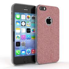 Schutz Hülle für Apple iPhone SE / 5 / 5S Glitzer Cover Handy Case Rosa
