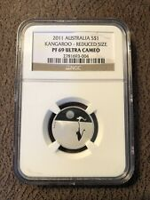 Rare! Australia 2011 1/5 Oz .999 Silver Kangaroo at Sunset Ngc Pf69 Low Mintage