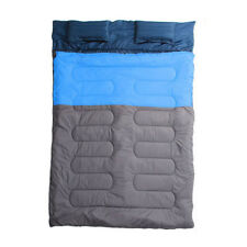 Lightweight Double Outdoor Camping Sleeping Bag Hiking Camp Supplies Accessories Orange&grey